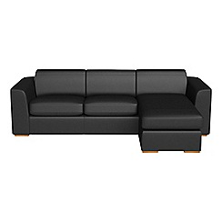 Debenhams - Luxury leather 'Jackson' right-hand facing chaise corner sofa
