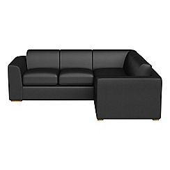 Debenhams - Medium luxury leather 'Jackson' right-hand facing corner sofa end