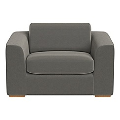 Debenhams - Natural grain leather 'Jackson' loveseat