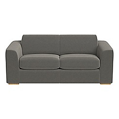 Debenhams - 3 seater natural grain leather 'Jackson' sofa bed