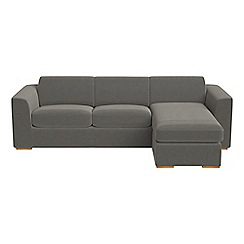 Debenhams - Natural grain leather 'Jackson' right-hand facing chaise corner sofa