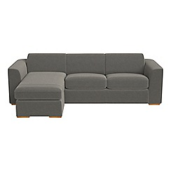 Debenhams - Natural grain leather 'Jackson' left-hand facing chaise corner sofa