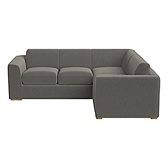 Debenhams - Medium natural grain leather 'Jackson' right-hand facing corner sofa end