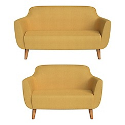 Ben de Lisi Home - 2 seater and compact tweedy weave 'Marco' sofas