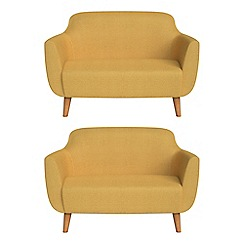 Ben de Lisi Home - Set of two compact tweedy weave 'Marco' sofas