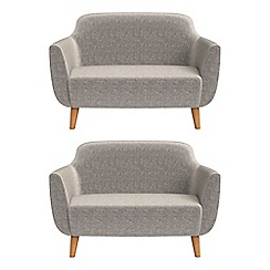 Ben de Lisi Home - Set of two compact chenille 'Marco' sofas
