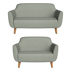 Ben de Lisi Home - 2 seater and compact textured weave 'Marco' sofas
