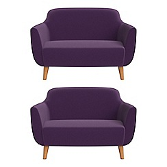 Ben de Lisi Home - Set of two compact velvet 'Marco' sofas