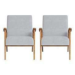 Debenhams - Set of 2 brushed cotton 'Kempton' armchairs