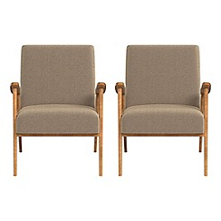 Debenhams - Set of 2 chenille 'Kempton' armchairs