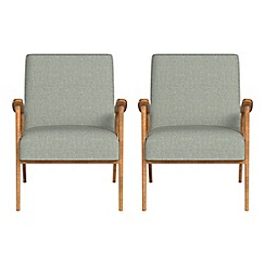 Debenhams - Set of 2 textured fabric 'Kempton' armchairs