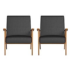 Debenhams - Set of 2 luxury leather 'Kempton' armchairs