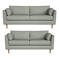 RJR.John Rocha - 3 seater and 2 seater textured weave 'Ravello' sofas