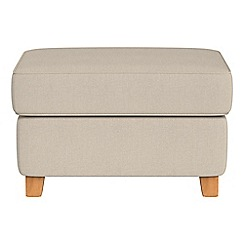 Debenhams - Tweedy weave 'Arlo' storage footstool