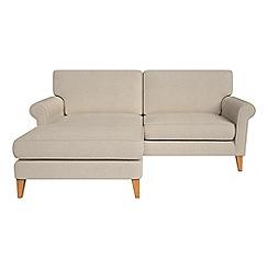 Debenhams - Tweedy weave 'Arlo' chaise corner sofa