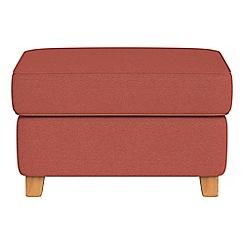 Debenhams - Flat weave fabric 'Arlo' storage footstool