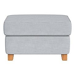 Debenhams - Brushed cotton 'Arlo' storage footstool