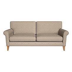 Debenhams - 3 seater textured weave 'Arlo' sofa