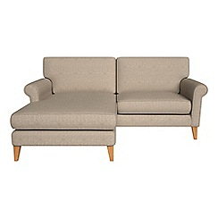 Debenhams - Textured weave 'Arlo' chaise corner sofa