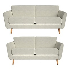 Debenhams - 3 seater and 2 seater brushed cotton 'Isabella' sofas