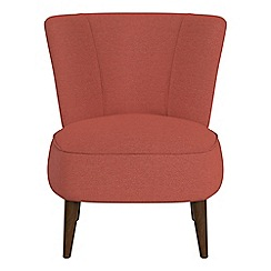 Debenhams - Flat weave fabric 'Boutique' accent chair