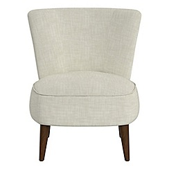 Debenhams - Brushed cotton 'Boutique' accent chair