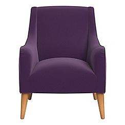 Debenhams - Velvet 'Darcey' armchair