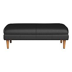 RJR.John Rocha - Luxury leather 'Ravello' footstool