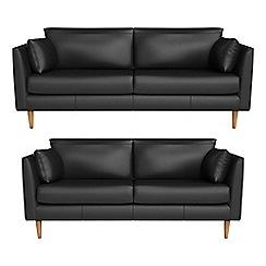RJR.John Rocha - 3 seater and 2 seater luxury leather 'Ravello' sofas