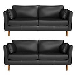 RJR.John Rocha - Set of two 2 seater luxury leather 'Ravello' sofas