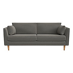 RJR.John Rocha - 3 seater natural grain leather 'Ravello' sofa