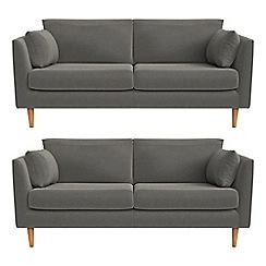 RJR.John Rocha - Set of two 2 seater natural grain leather 'Ravello' sofas