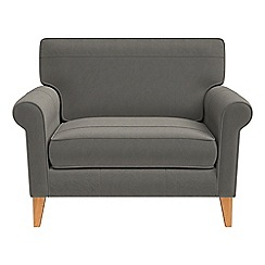 Debenhams - Natural grain leather 'Arlo' loveseat