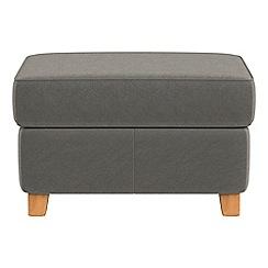 Debenhams - Natural grain leather 'Arlo' storage footstool