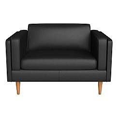 Debenhams - Luxury leather 'Lille' loveseat