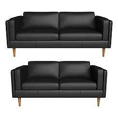 Debenhams - 3 seater and 2 seater luxury leather 'Lille' sofas