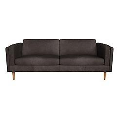 Debenhams - 4 seater natural grain leather 'Lille' sofa
