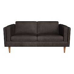 Debenhams - 2 seater natural grain leather 'Lille' sofa