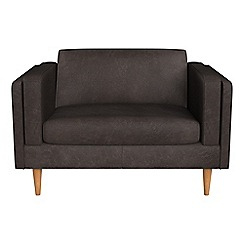 Debenhams - Natural grain leather 'Lille' loveseat