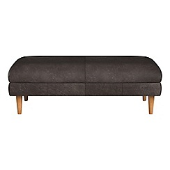 Debenhams - Natural grain leather 'Lille' footstool