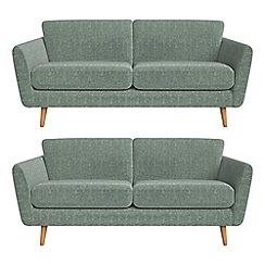 Debenhams - Set of two 3 seater chenille 'Isabella' sofas