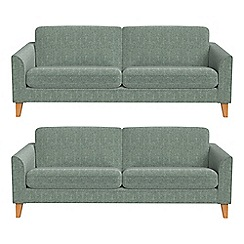 Debenhams - Set of two 3 seater chenille 'Carnaby' sofas