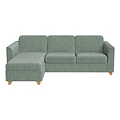 Debenhams - Chenille 'Carnaby' left-hand facing chaise corner sofa bed