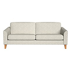Debenhams - 3 seater textured weave 'Carnaby' sofa