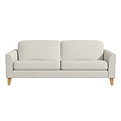 Debenhams - 3 seater textured weave 'Carnaby' sofa bed
