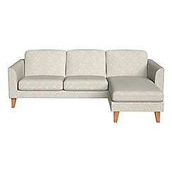 Debenhams - Textured weave 'Carnaby' right-hand facing chaise corner sofa