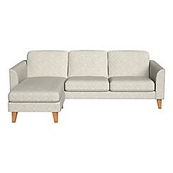 Debenhams - Textured weave 'Carnaby' left-hand facing chaise corner sofa