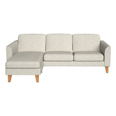 Textured Weave Carnaby Left Hand Facing Chaise Corner Sofa