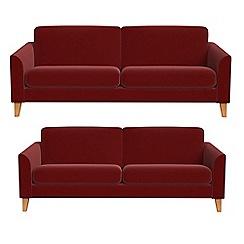 Debenhams - 4 seater and 3 seater velvet 'Carnaby' sofas