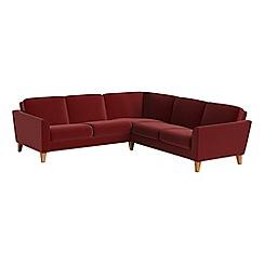 Debenhams - Velvet 'Carnaby' corner sofa